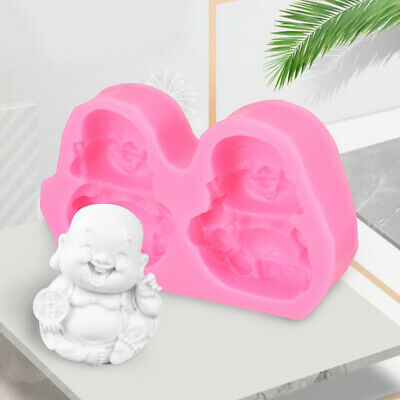Buddha Smiling Face Candle Soap Silicone Mold DIY Making Craft Mould Decor  -AU
