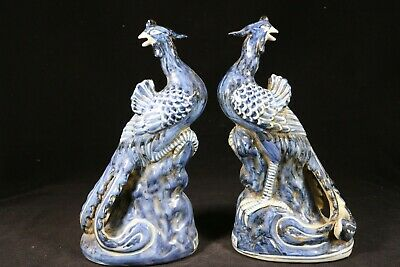 Beautiful Chinese blue and white porcelain Phoenixs