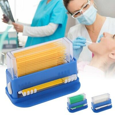 Plastic Disposable Dental Tip Micro Brush Applicators Brush Dispenser with Box