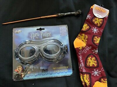 Harry Potter Quidditch Goggles World Cup Golden Snitch Adult Costume Glasses Acc