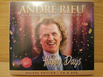 Andre Rieu and His Johann Strauss Orchestra Happy Days Deluxe Sealed CD + DVD