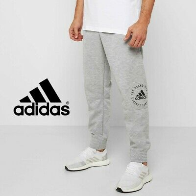 Adidas Mens Sport ID Jogging Bottoms Grey Tracksuit Joggers Free Tracked Post