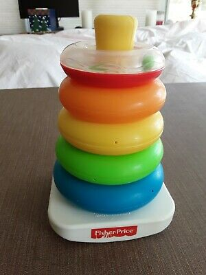 29a Fisher Price Brilliant Basics Rock a Stack Baby Toddler Toy