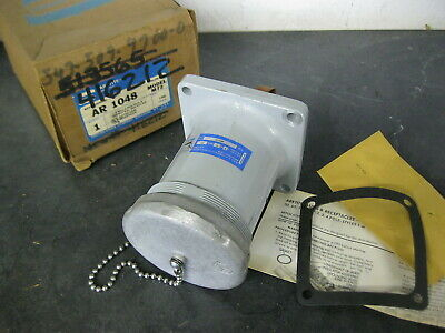 Crouse-Hinds AR1048 100 Amp Receptacle 3-Wire 4-Pole 250//600V for Hazardous Loc.