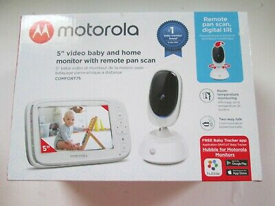 Motorola 5-Inch Video Baby Monitor W/ Remote Pan Scan COMFORT 75 NEW OPEN BOXED