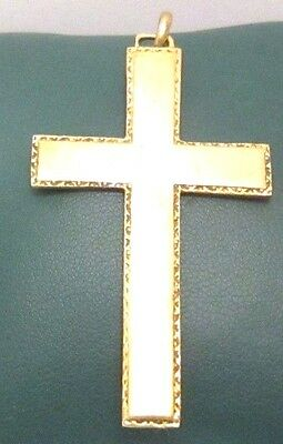 OUTSTANDING VINTAGE BRASS CROSS,ENGRAVING,EARLY 20th. Century !!! # 958