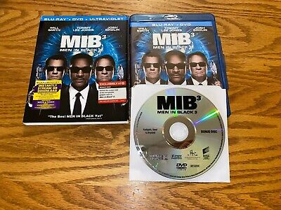 Men In Black Mib 3 Blu-Ray Dvd Target Exclusive Bonus Disc Slipcover Will Smith