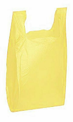 Yellow Plastic T-Shirt Shopping Bags - Case of 1,000