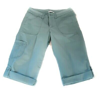Riders® by Lee™ Aqua Mid-Rise Skimmer Cargo Capri Pants Size 12 Cotton Teal