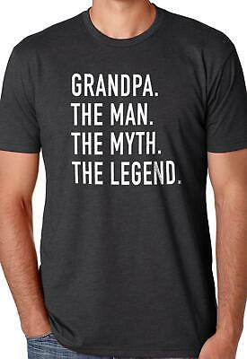 Grandpa The Man Myth Legend Mens Graphic Fathers Day Novelty Funny T Shirt Tee