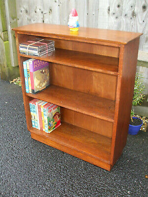 Vintage oak bookcase, 1930s Cotswold era, good quality, interesting design