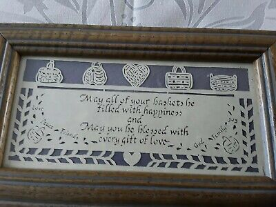 Scissors Handmade Scissor Cuts Framed Picture On Paper  May all your baskets be