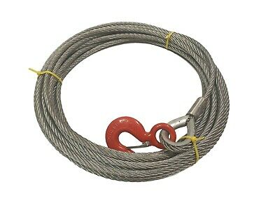 11.5mm Winch Cable To Suit Tirfor & 1600kgs Wire Rope Hoist - Choose Length