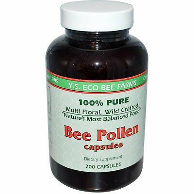 Bee Pollen, 200 Capsules - Y.S. Eco Bee Farms