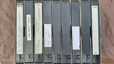 9 used VHS 160 tapes sold as blanks