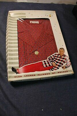 vintage WELDON NOS RAYON Pajama Top and Pants BOX OPENED SIZE D XL