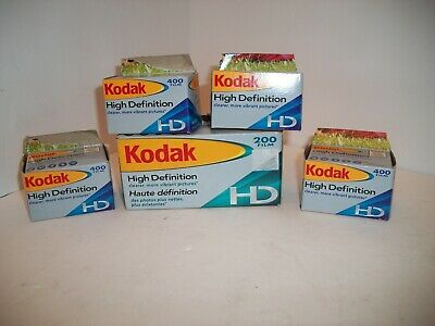 Lot Kodak High Definition Hd 35 Mm 400 Film 7 Rolls 24 Exposures Exp. 08/07 Nib