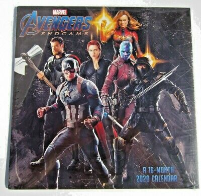 Marvel Comics The Avengers Endgame Movie 16 Month 2020 Mini Wall Calendar SEALED