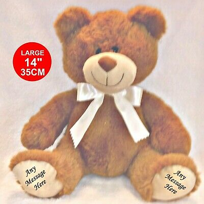 Personalised Teddy Bear  Exclusive 45Cm Top To Toe Any Message Printed