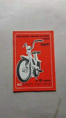 Velosolex Flash 48 manuale uso originale italiano owner's manual