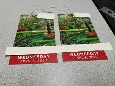 2 MASTERS Augusta 2020 Ticket WEDNESDAY 4/8 Badge Full Day IN HAND