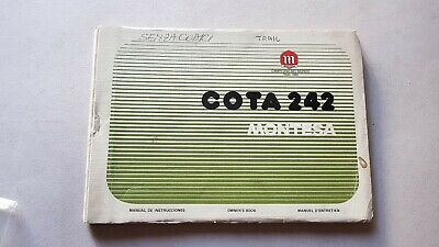 Montesa Cota 242 manuale uso catalogo ricambi originale owner's parts manual