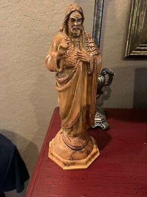Beautiful Hand Carved Wooden Statue of Jesus, Made In Bethlehem Israel