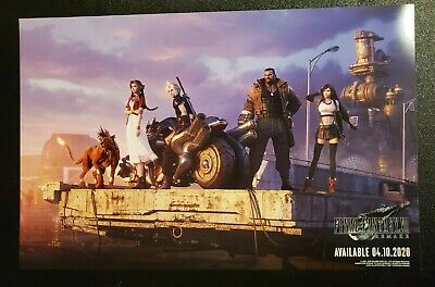 PAX East 2020 - Final Fantasy VII 7 Remake - Double Sided Poster Cloud - 11X17