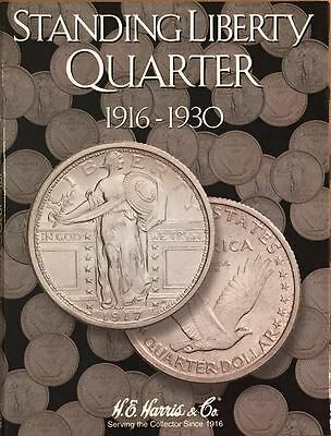 1916-1930 LIBERTY STANDING QUARTER #1917 COIN FOLDER BY WHITMAN-USED    #3846