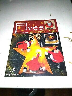 RARE Elves And Starfilled Nights Painting Pattern Book Prudy Vannier Unused HTF