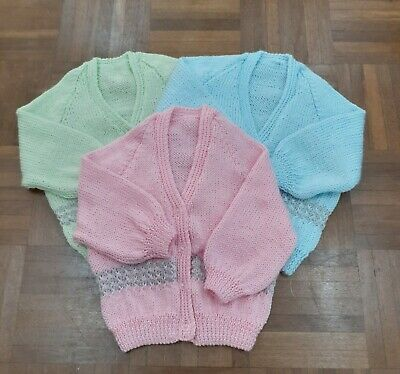 Cardigan hand knitted