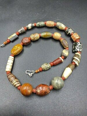 a bactrian agate beads nECKLACE  cIRCA LATE 3RD-EARLY 2ND MILLENNIUM B.C.