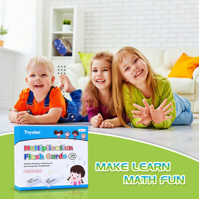 156 Cards Baby Learn Multiplication Flash Cards Infant Educational Toys 0-12
