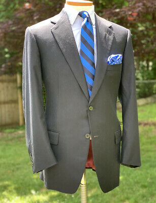 Stuart's Choice By ST Andrews Wool Cashmere Blue Suit 43 - 44 L Made In Italy