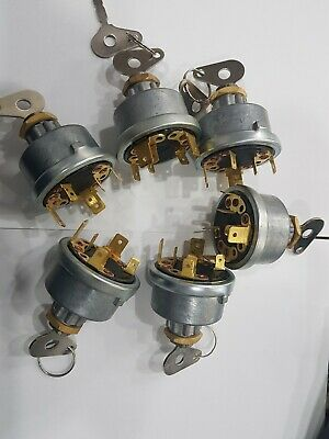 Lot Of 6 Massey,Case,David Brown,landini,Leyland Tractor Ignition Switch