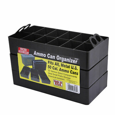 MTM ACO  Ammo Can Organizer Insert - Sold as 3-Pack 22 compartments Black