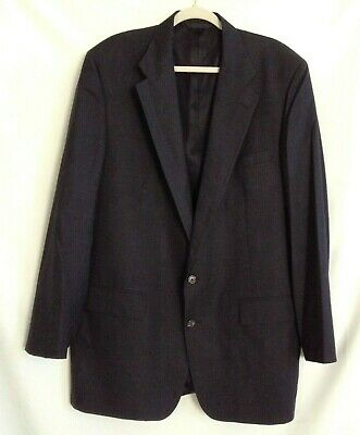 Mens Investment Collection Tom James Dark Charcoal100% Wool Blazer Two Buttons