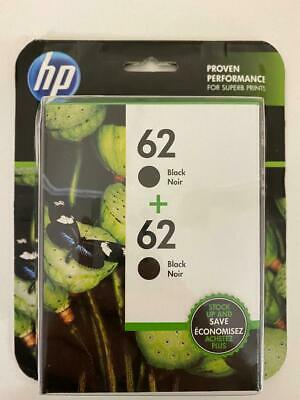 Fast Shipping HP 2-PACK 62 Black For HP OfficeJet & HP Envy
