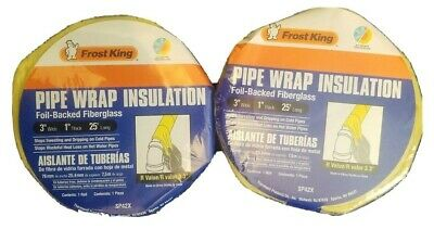 Frost King lot of 2rolls  3 in. Wide 1 in. Thick,  Pipe Insulation  25 ft. Long