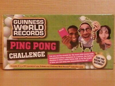 Guinness World Records Ping Pong Challenge, Can You Break The Code?New & Sealed