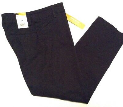 Lee Womens Pants Black Size 6P 6 Petite Relaxed Straight Effortless 460120A NWT
