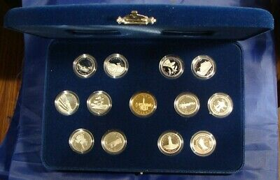 Silver 1992 Canada 125th Anniversary Proof 25 Cents Quarter Set with Case & COAs