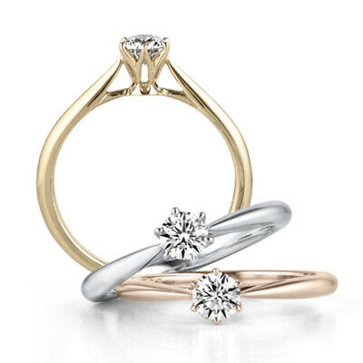 GC- Simple Women Finger Ring Crystal Cubic Zirconia Engagement Wedding Ring Delu