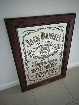 Jack Daniel's limited edition hardwood framed mirror