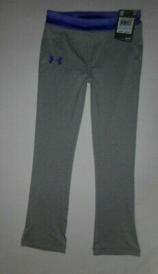 Under Armour Girls Grey Purple Leggings Little Girl's Size 5 New with Tag