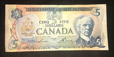 Canada 1979 $5 Five Dollar Banknote Circulated 30165489812