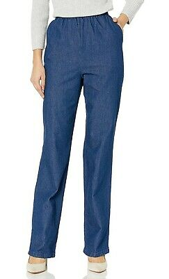 Chic Classic Collection Women's Cotton Pull-on Pant with Elastic Waist