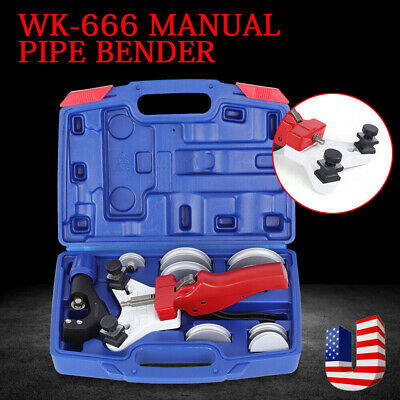 11Pcs WK-666 Multi Copper Pipe Kit Bender Tube bending with Tube Cutter Tool US