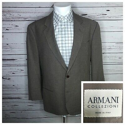 Giorgio Armani Collezioni 42R Brown Suit Jacket Sports Coat Wool Blend ITALY