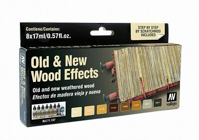 Vallejo Airbrush Model Air Set Old & New Wood Effects (8)